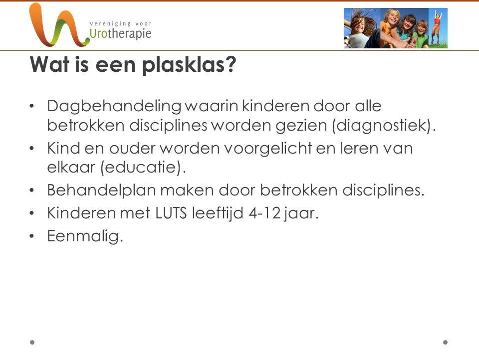 Wat is een plasklas Dagbehandeling waarin kinderen door alle betrokken disciplines worden gezien (diagnostiek).