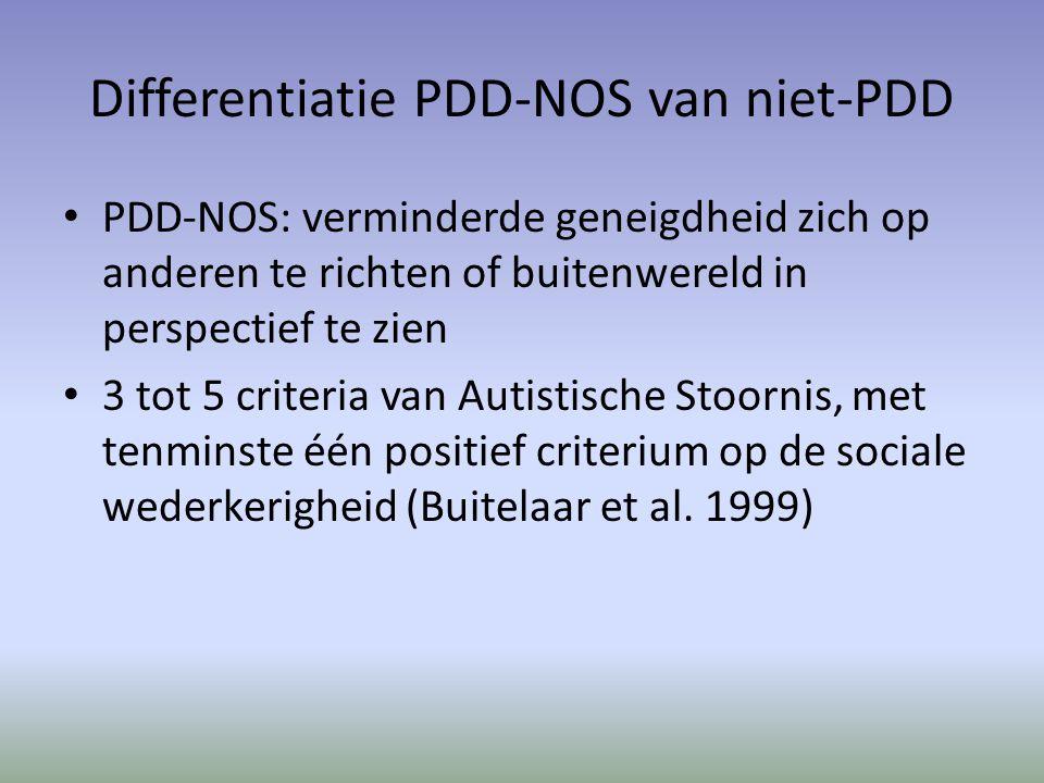 Differentiatie PDD-NOS van niet-PDD