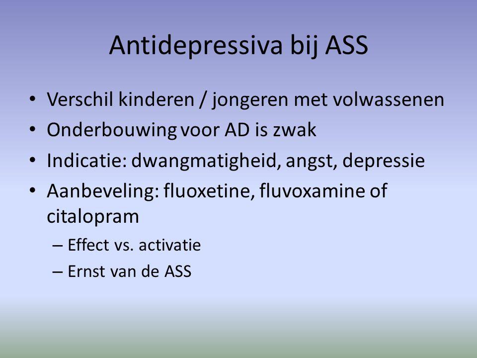 Antidepressiva bij ASS