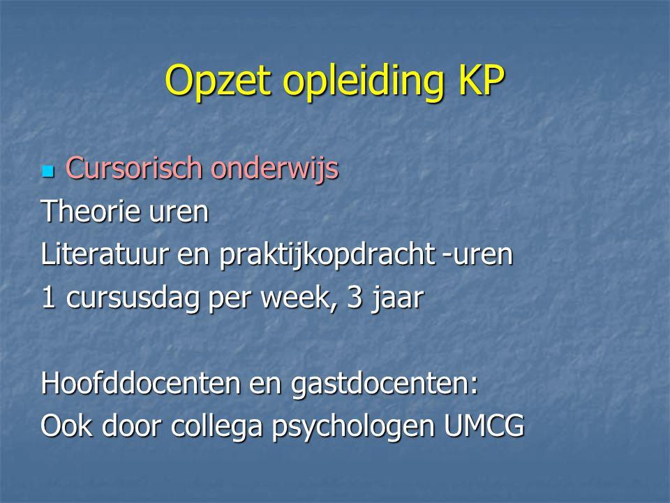 Opzet opleiding KP Cursorisch onderwijs Theorie uren