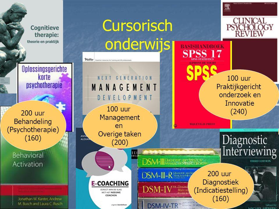 Cursorisch onderwijs 100 uur Praktijkgericht onderzoek en Innovatie