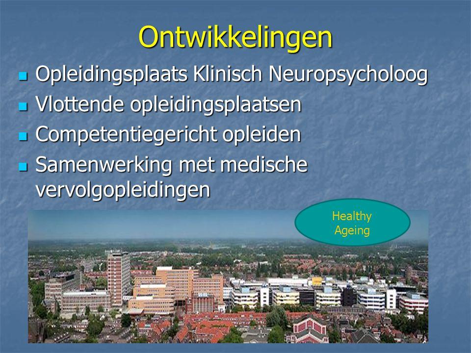 Ontwikkelingen Opleidingsplaats Klinisch Neuropsycholoog
