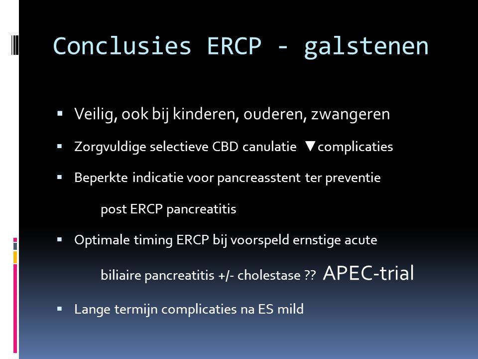 Conclusies ERCP - galstenen