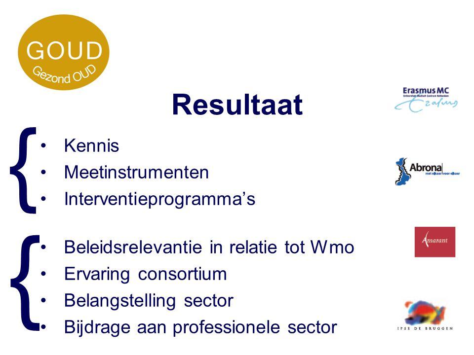 } } Resultaat Kennis Meetinstrumenten Interventieprogramma's