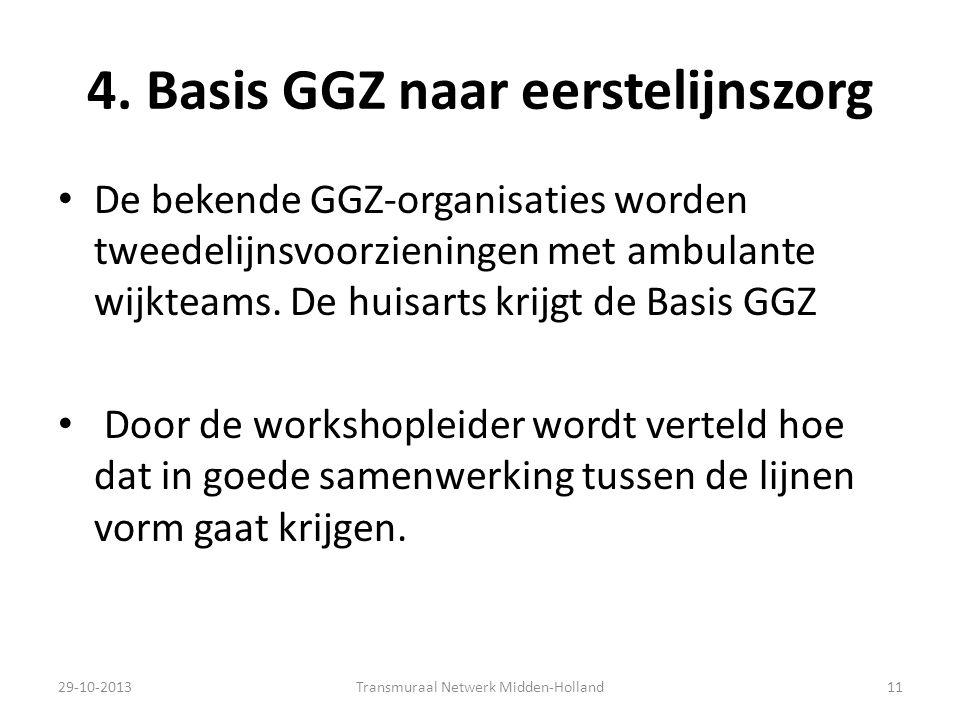 4. Basis GGZ naar eerstelijnszorg