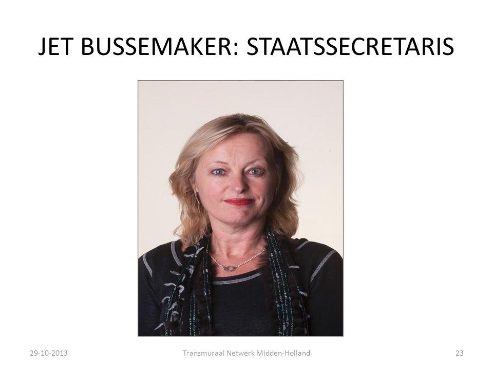 JET BUSSEMAKER: STAATSSECRETARIS