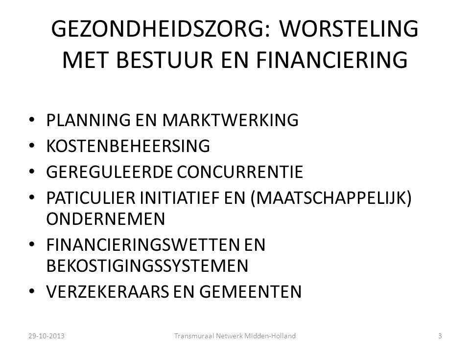 GEZONDHEIDSZORG: WORSTELING MET BESTUUR EN FINANCIERING