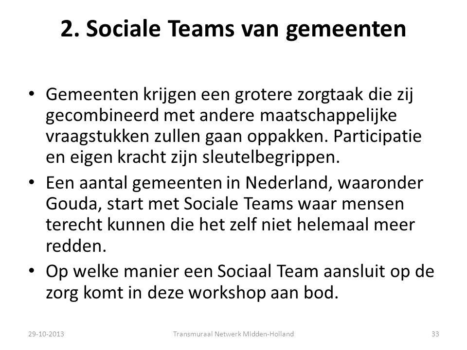 2. Sociale Teams van gemeenten