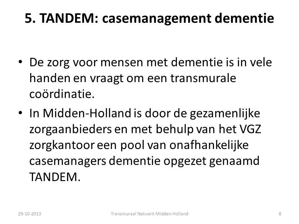 5. TANDEM: casemanagement dementie