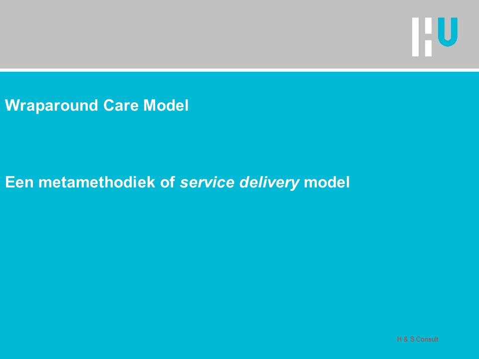 Een metamethodiek of service delivery model