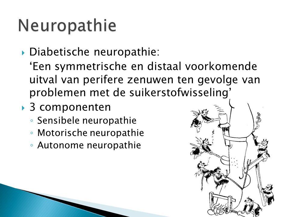 Neuropathie Diabetische neuropathie: