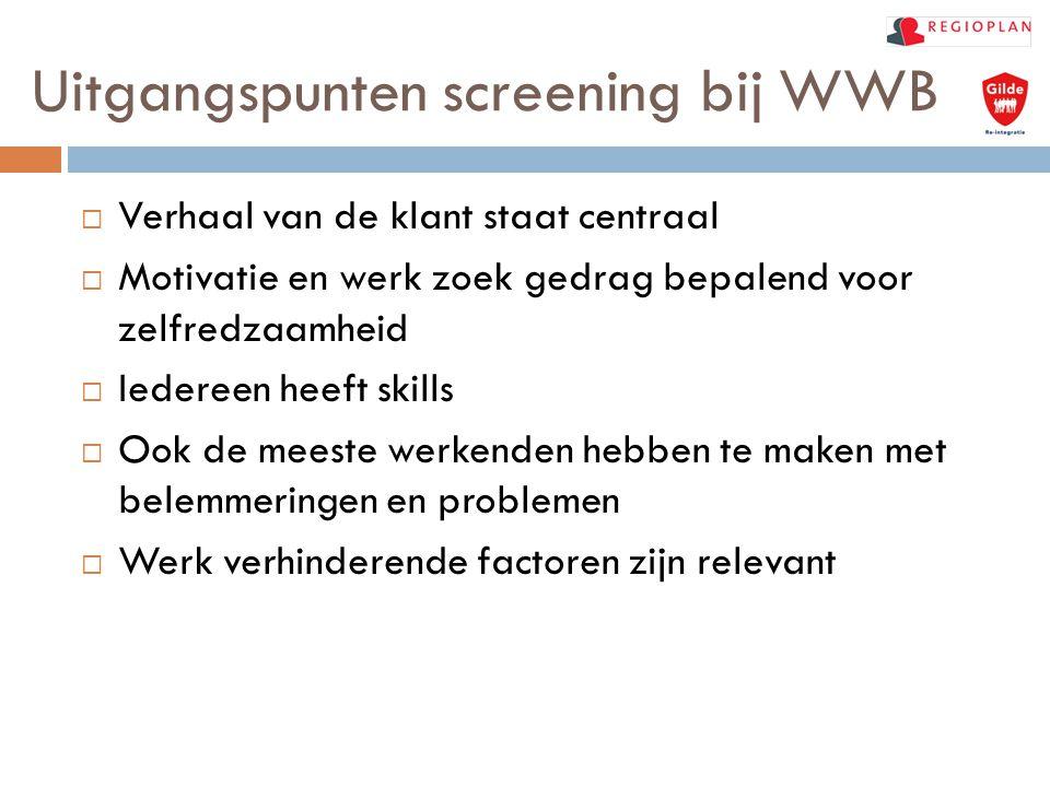 Uitgangspunten screening bij WWB