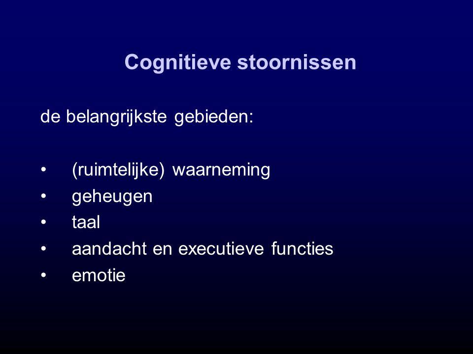 Cognitieve stoornissen