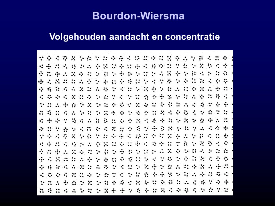 Bourdon-Wiersma Volgehouden aandacht en concentratie