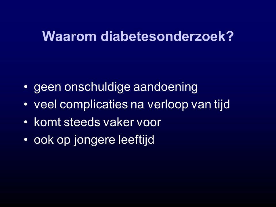 Waarom diabetesonderzoek