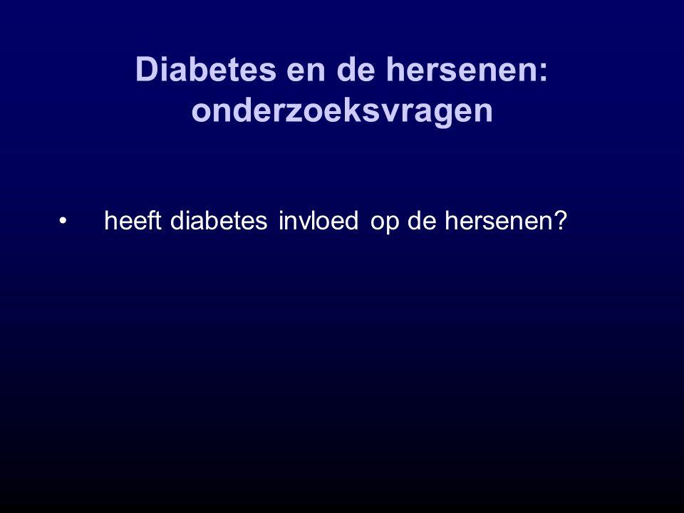 Diabetes en de hersenen: onderzoeksvragen