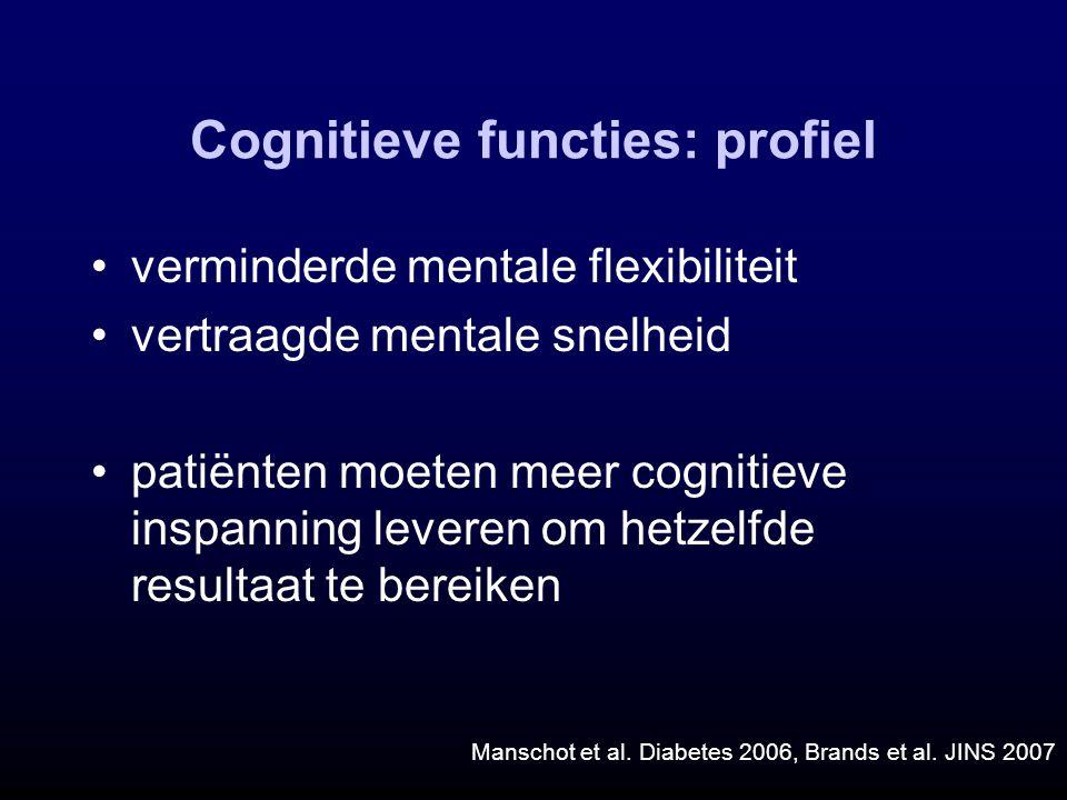 Cognitieve functies: profiel