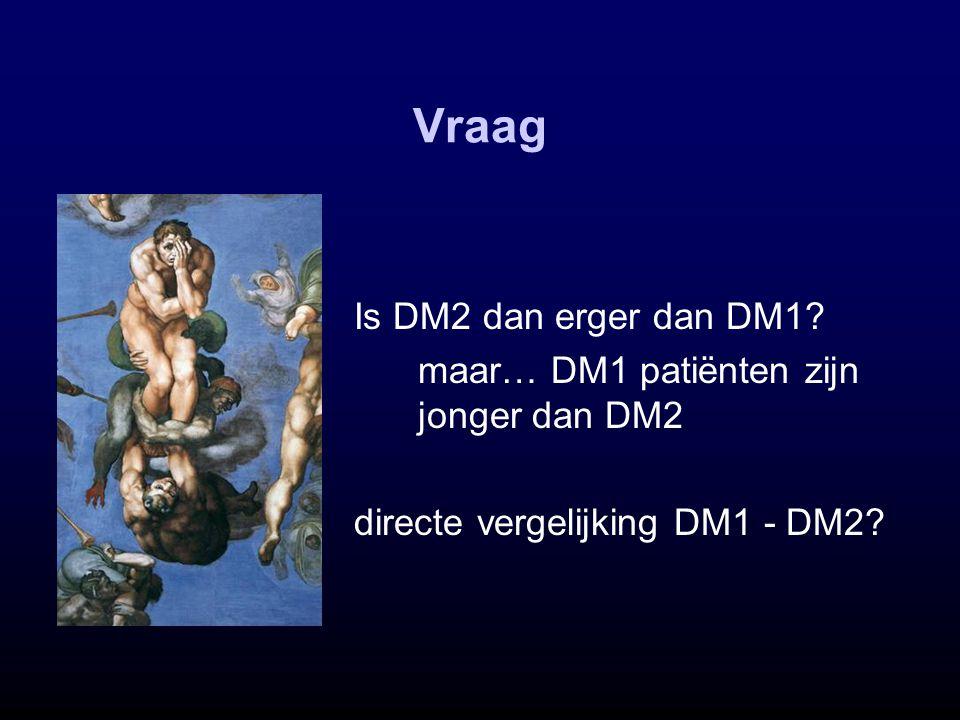 Vraag Is DM2 dan erger dan DM1