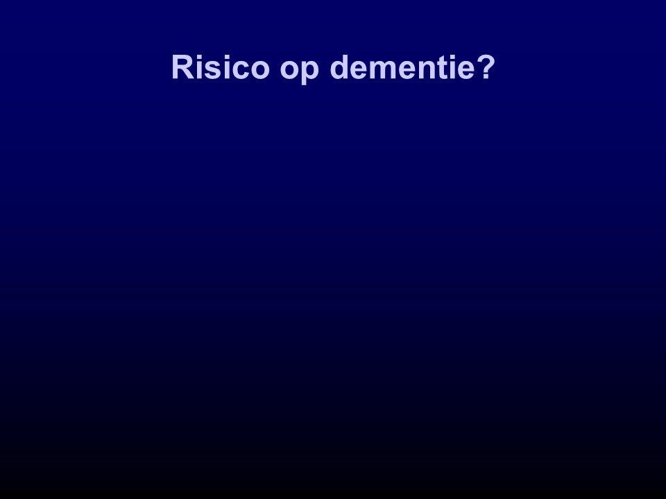 Risico op dementie