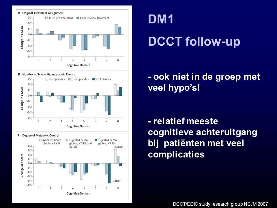 DM1 DCCT follow-up - ook niet in de groep met veel hypo's!