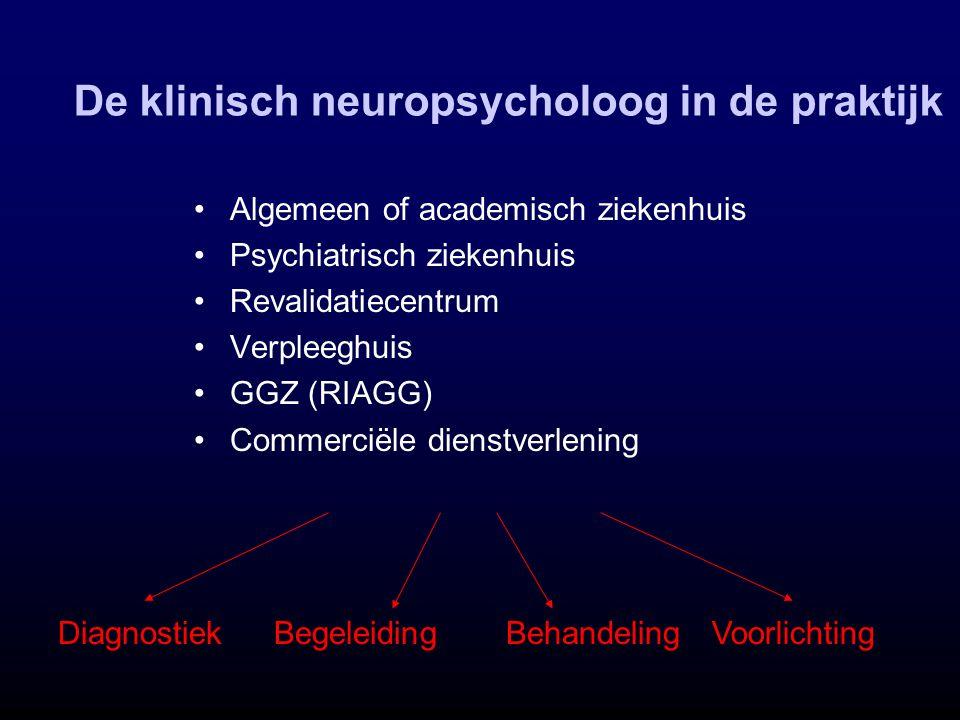 De klinisch neuropsycholoog in de praktijk