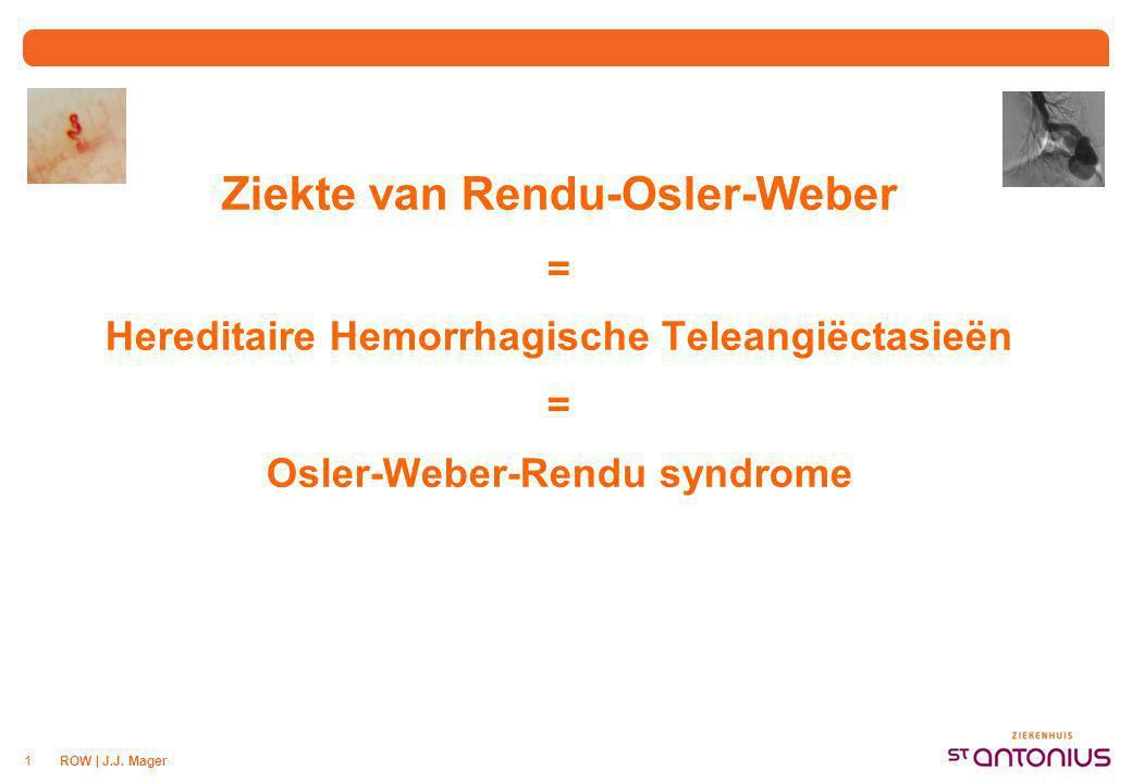 Inhoud Overzicht ROW Diagnose / screening