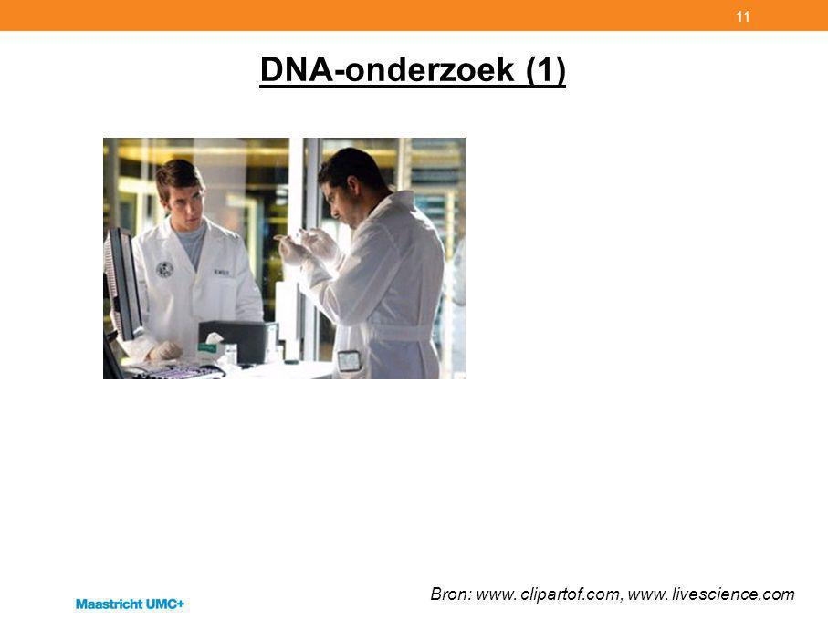 DNA-onderzoek (1) Bron: www. clipartof.com, www. livescience.com