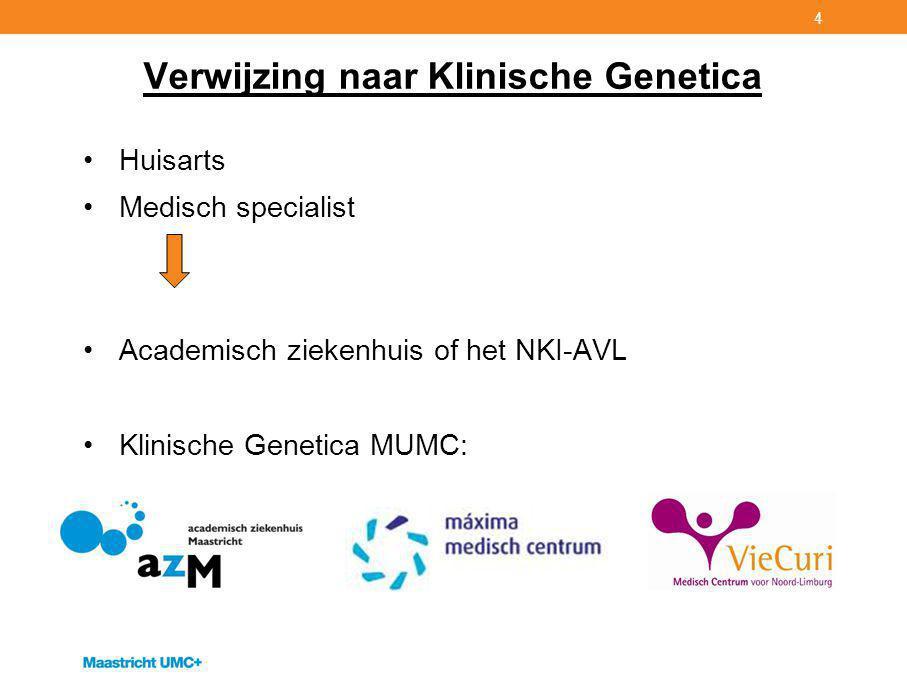 Verwijzing naar Klinische Genetica