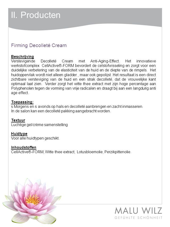 II. Producten Firming Decolleté Cream Beschrijving