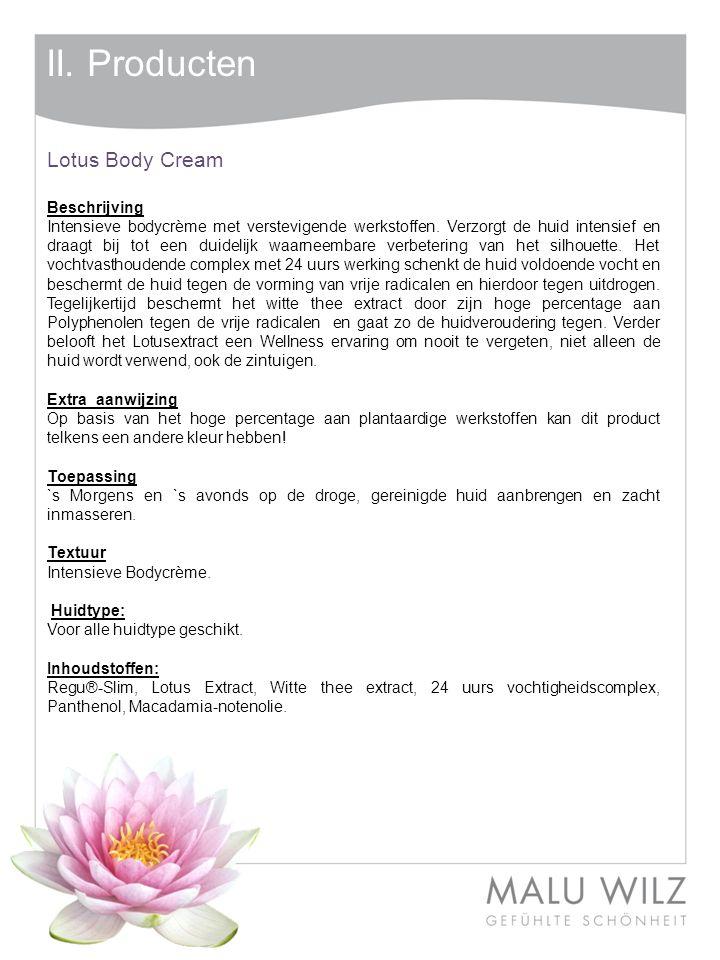 II. Producten Lotus Body Cream Beschrijving