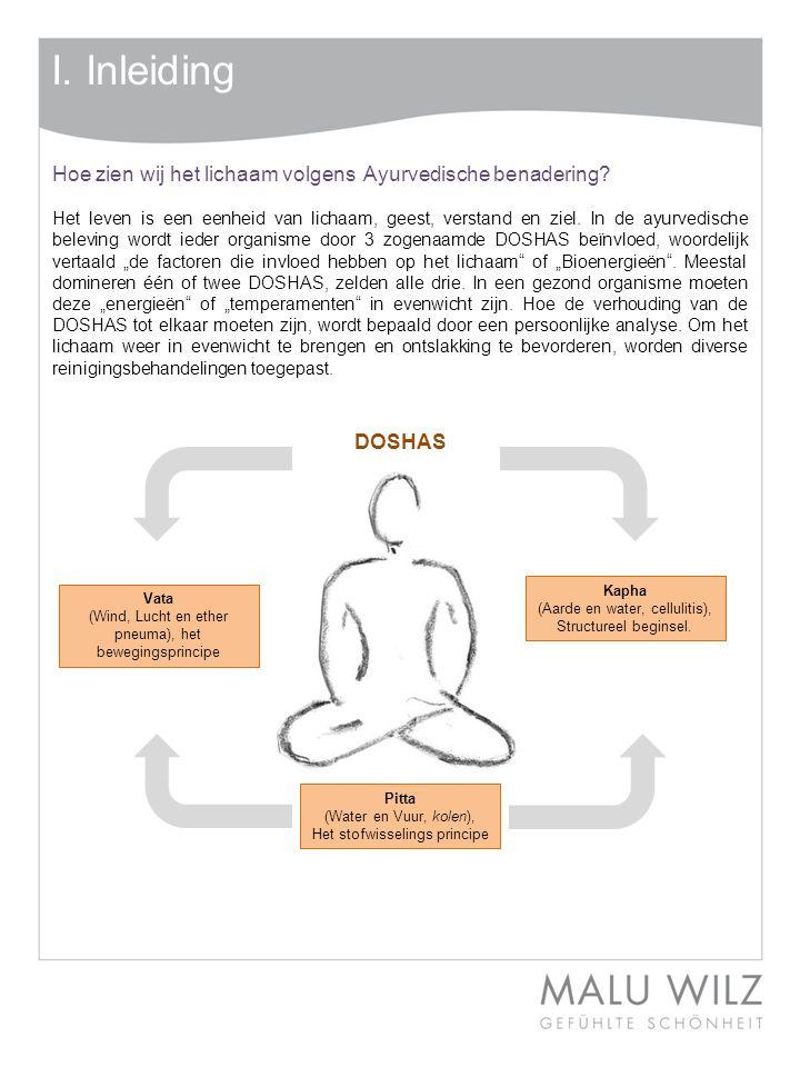 I. Inleiding Hoe zien wij het lichaam volgens Ayurvedische benadering