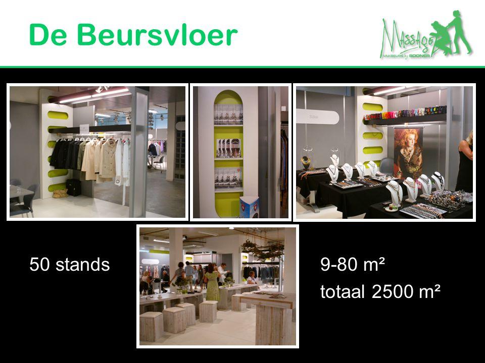 De Beursvloer 50 stands 9-80 m² totaal 2500 m²