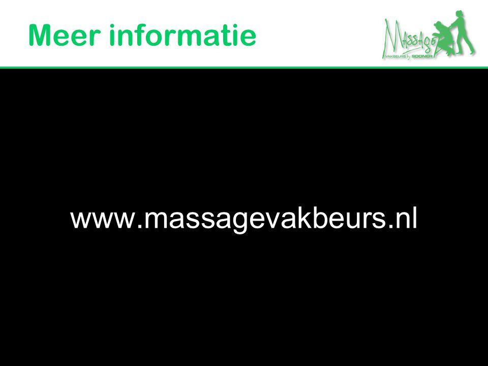 Meer informatie www.massagevakbeurs.nl