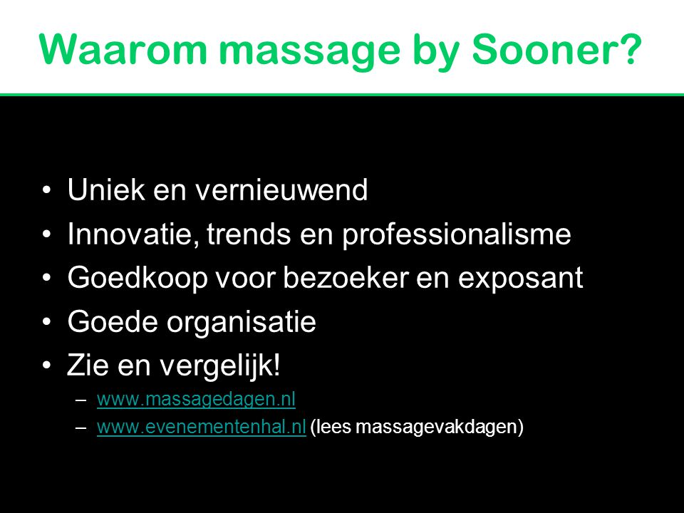 Waarom massage by Sooner