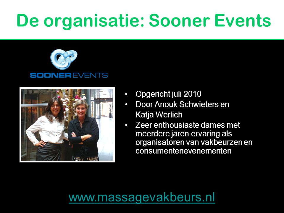 De organisatie: Sooner Events
