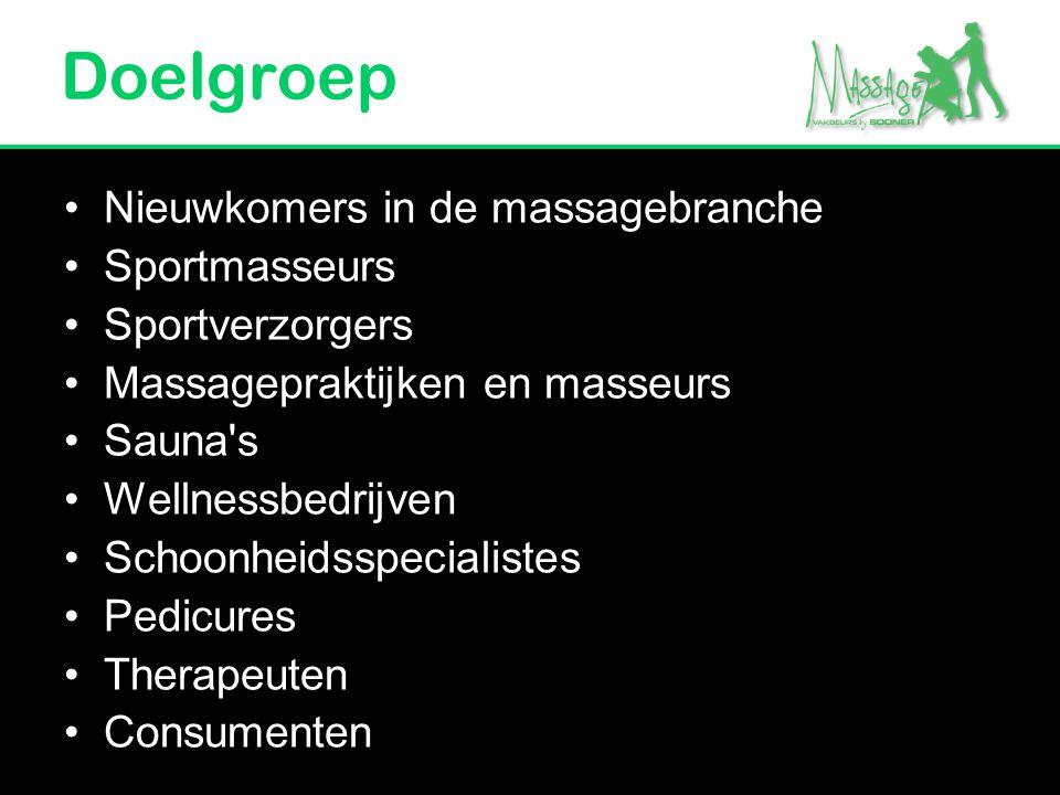 Doelgroep Nieuwkomers in de massagebranche Sportmasseurs