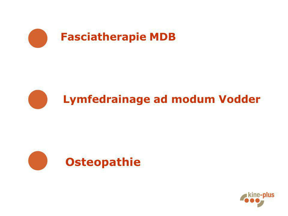 Fasciatherapie MDB Lymfedrainage ad modum Vodder Osteopathie