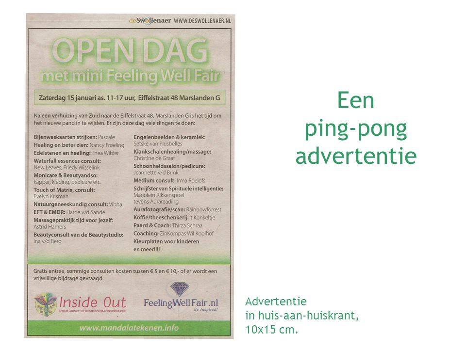 ping-pong advertentie