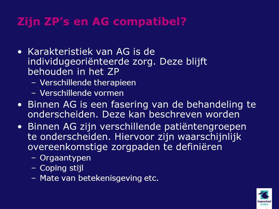 Zijn ZP's en AG compatibel