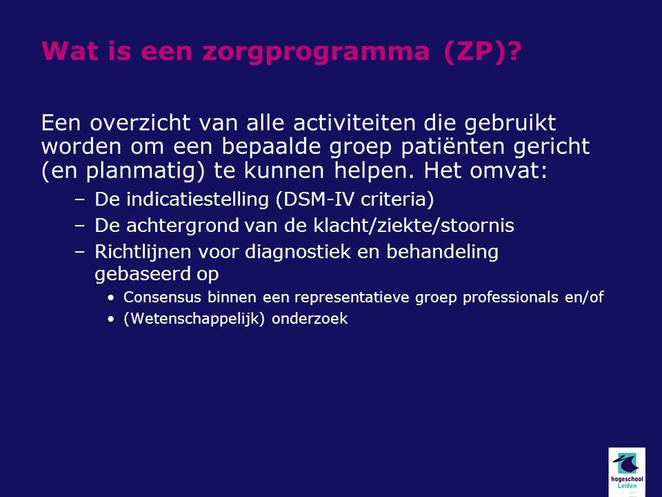 Wat is een zorgprogramma (ZP)