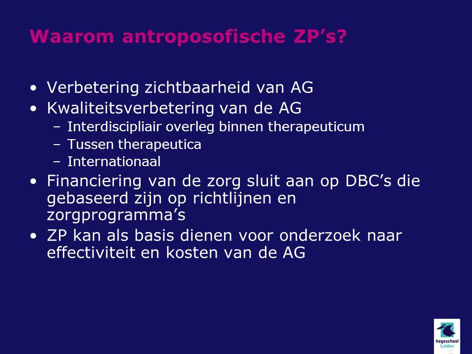 Waarom antroposofische ZP's
