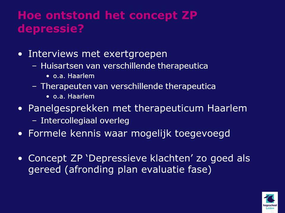 Hoe ontstond het concept ZP depressie
