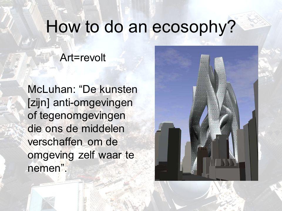 How to do an ecosophy Art=revolt