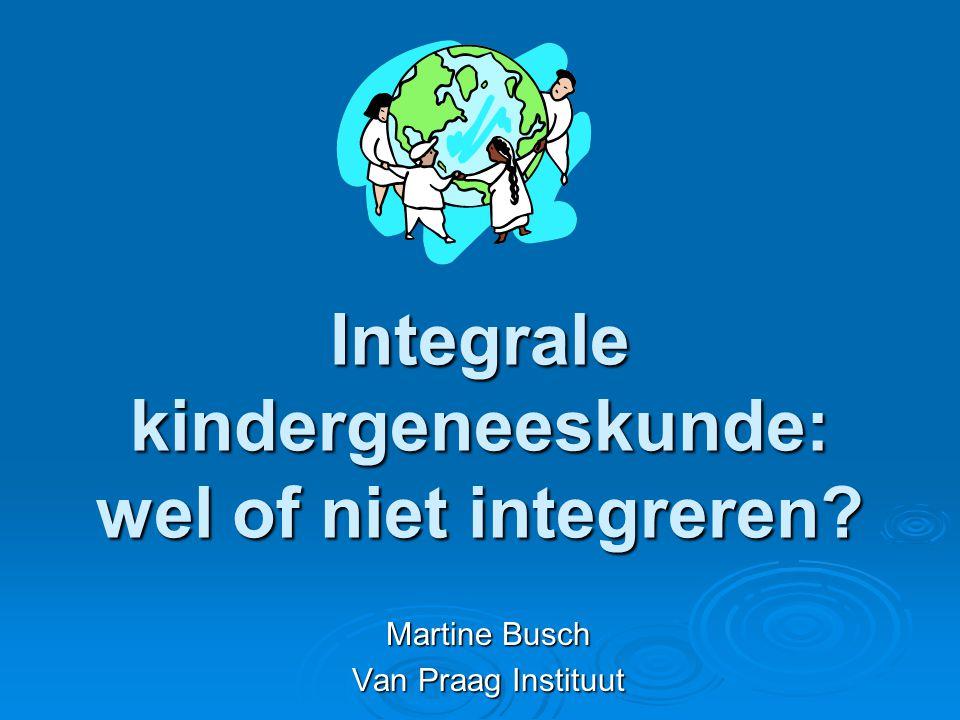 Integrale kindergeneeskunde: wel of niet integreren