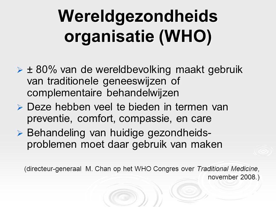 Wereldgezondheids organisatie (WHO)