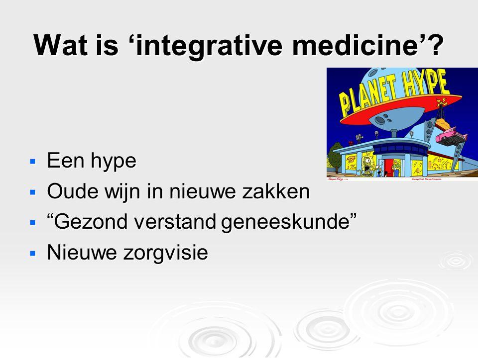 Wat is 'integrative medicine'