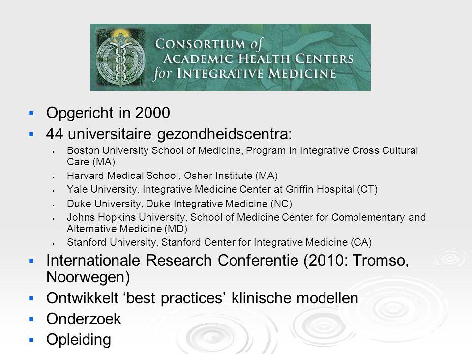 44 universitaire gezondheidscentra: