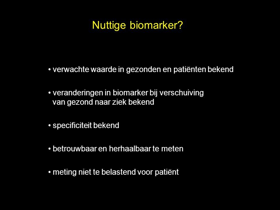 Nuttige biomarker verwachte waarde in gezonden en patiënten bekend
