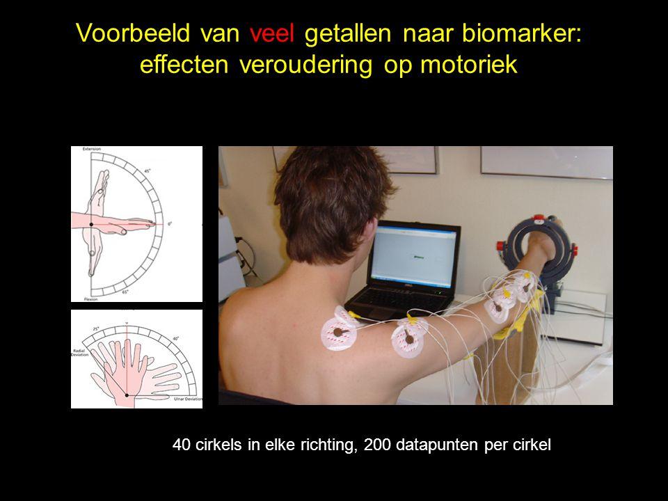 Voorbeeld van veel getallen naar biomarker: effecten veroudering op motoriek