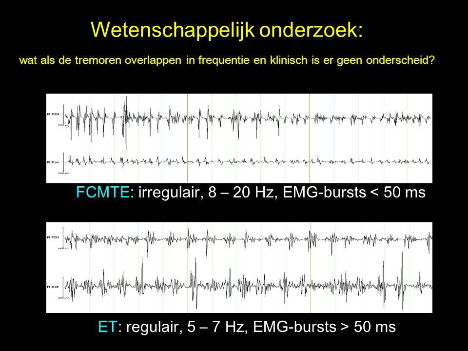 Wetenschappelijk onderzoek: wat als de tremoren overlappen in frequentie en klinisch is er geen onderscheid